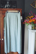 Load image into Gallery viewer, Sage Green Floral Maxi Skirt