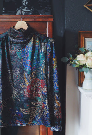 Vintage Paisley Shimmer Blouse