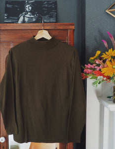 Vintage Green Turtleneck Sweater