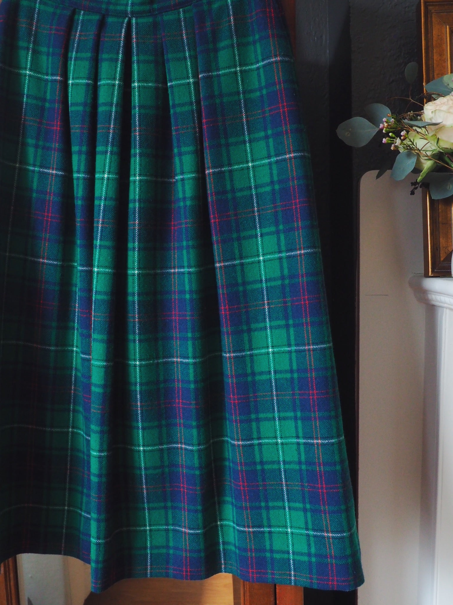 Pendleton Plaid Midi Skirt