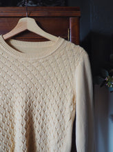 Load image into Gallery viewer, Vintage Cream Knit Cotton Sweater
