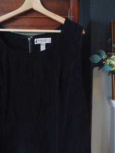 Plus Size Black Corduroy Jumper