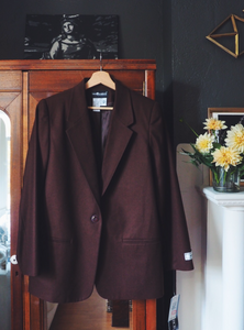 Vintage Brown Wool Blazer