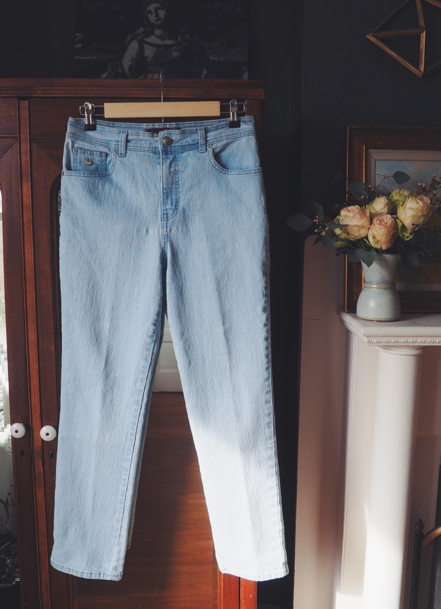 Light Wash High Waist Denim