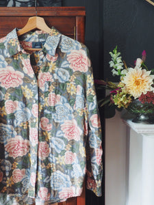 Vintage Cotton Floral Button Down