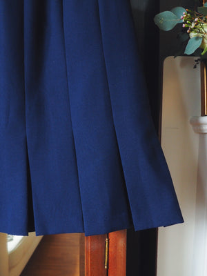Vintage Navy Fit-and-Flare Skirt