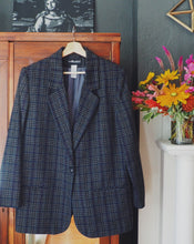 Load image into Gallery viewer, Vintage Gray Plaid Blazer