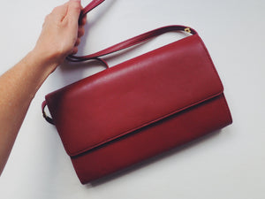 Vintage Burgundy Cross Body Purse