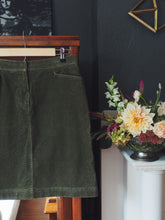 Load image into Gallery viewer, Green Corduroy Skirt