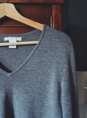 V-Neck Merino Wool Sweater