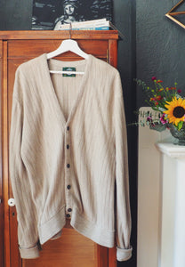 Vintage Over-Sized Men's Cardigan