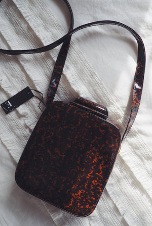 Vintage Patent Leather Box Crossbody