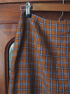 90s Plaid Wrap Skirt