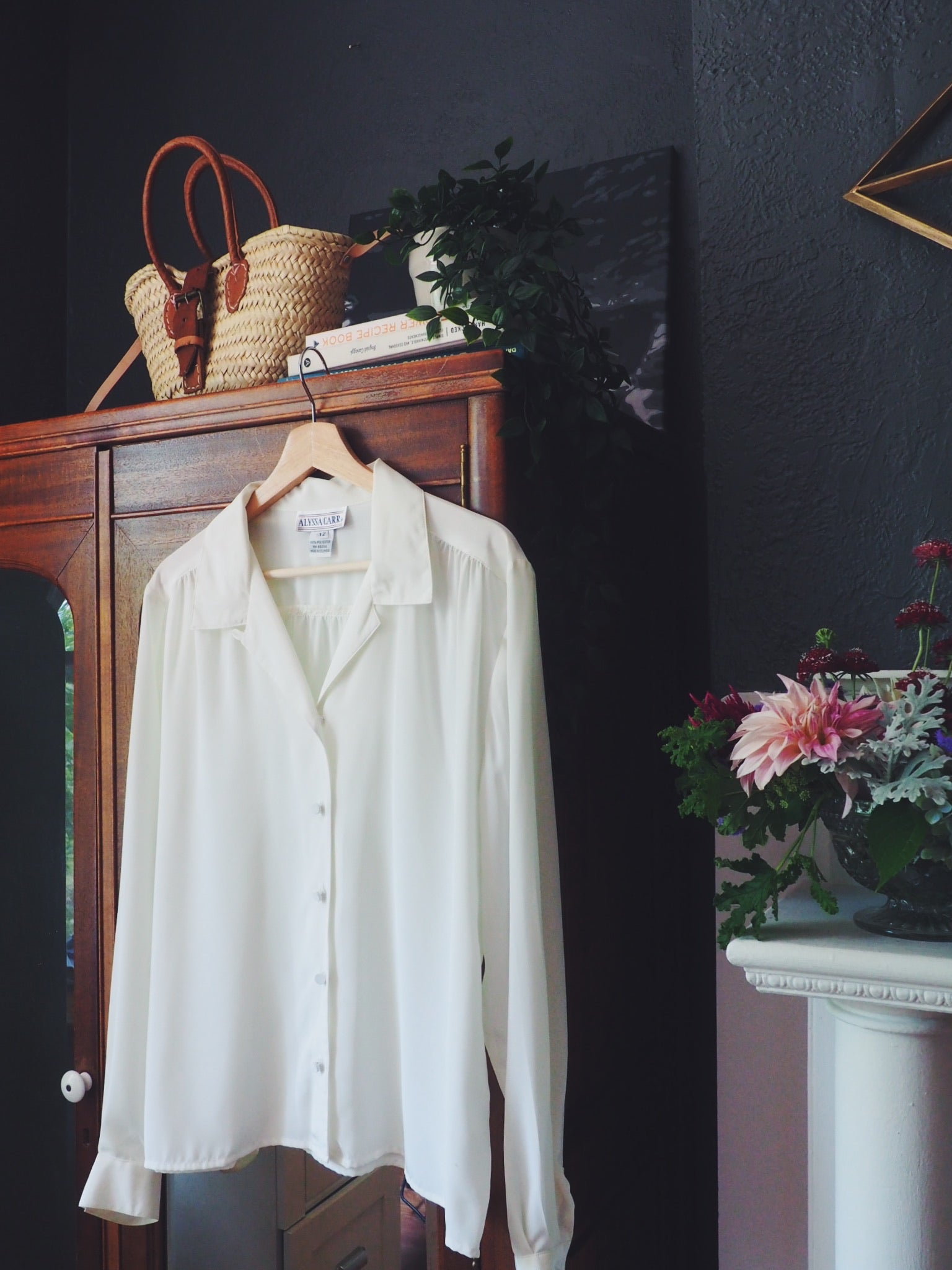 Vintage Cream Button Down Blouse