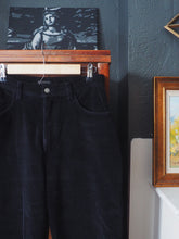 Load image into Gallery viewer, Black Corduroy High Waist Pants