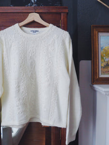 Vintage Beaded Cream Sweater