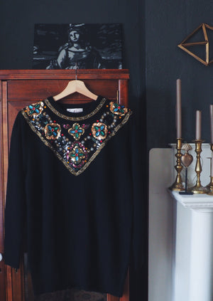 Vintage Jeweled Sweater