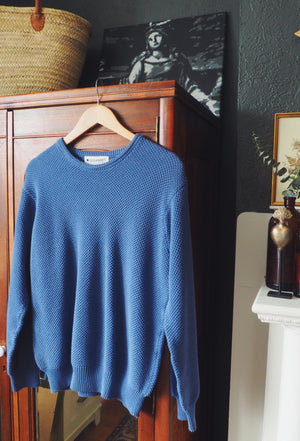 100% Cotton Indigo Crewneck