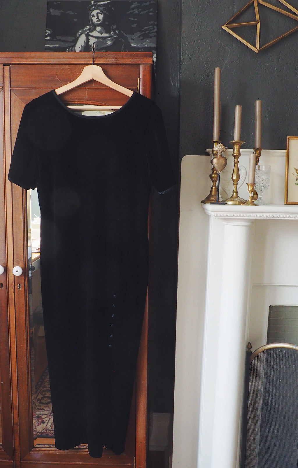 Made in the USA Vintage Velvet Midi Dress