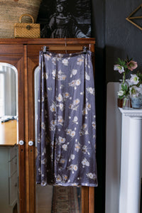 Made in the USA Vintage Purple Floral Midi Skirt