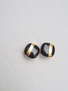 Vintage Striped Statement Studs