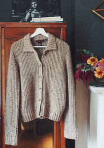 Vintage Taupe Knit Cardigan