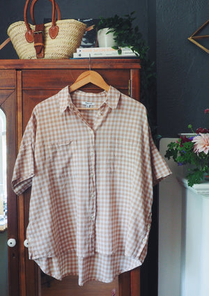 Madewell Gingham Short-Sleeve Button-Down