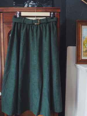 Vintage Forest Green A-Line Midi