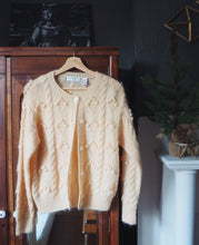 Load image into Gallery viewer, Vintage Mohair Blend Bubble Cardigan