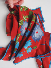 Load image into Gallery viewer, Vintage Rust Floral Scarf