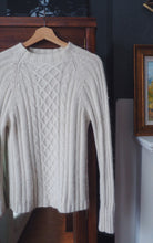 Load image into Gallery viewer, Silk Angora Cream Knit Mock Neck