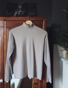 Vintage 100% Cotton Striped Turtleneck
