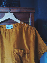 Load image into Gallery viewer, Vintage 100% Silk Blouse in Rust Orange
