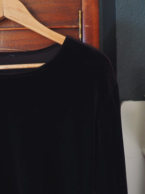 90s Brown Velvet Blouse