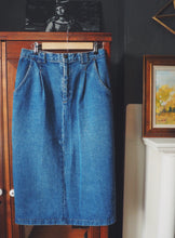 Load image into Gallery viewer, 80s denim midi