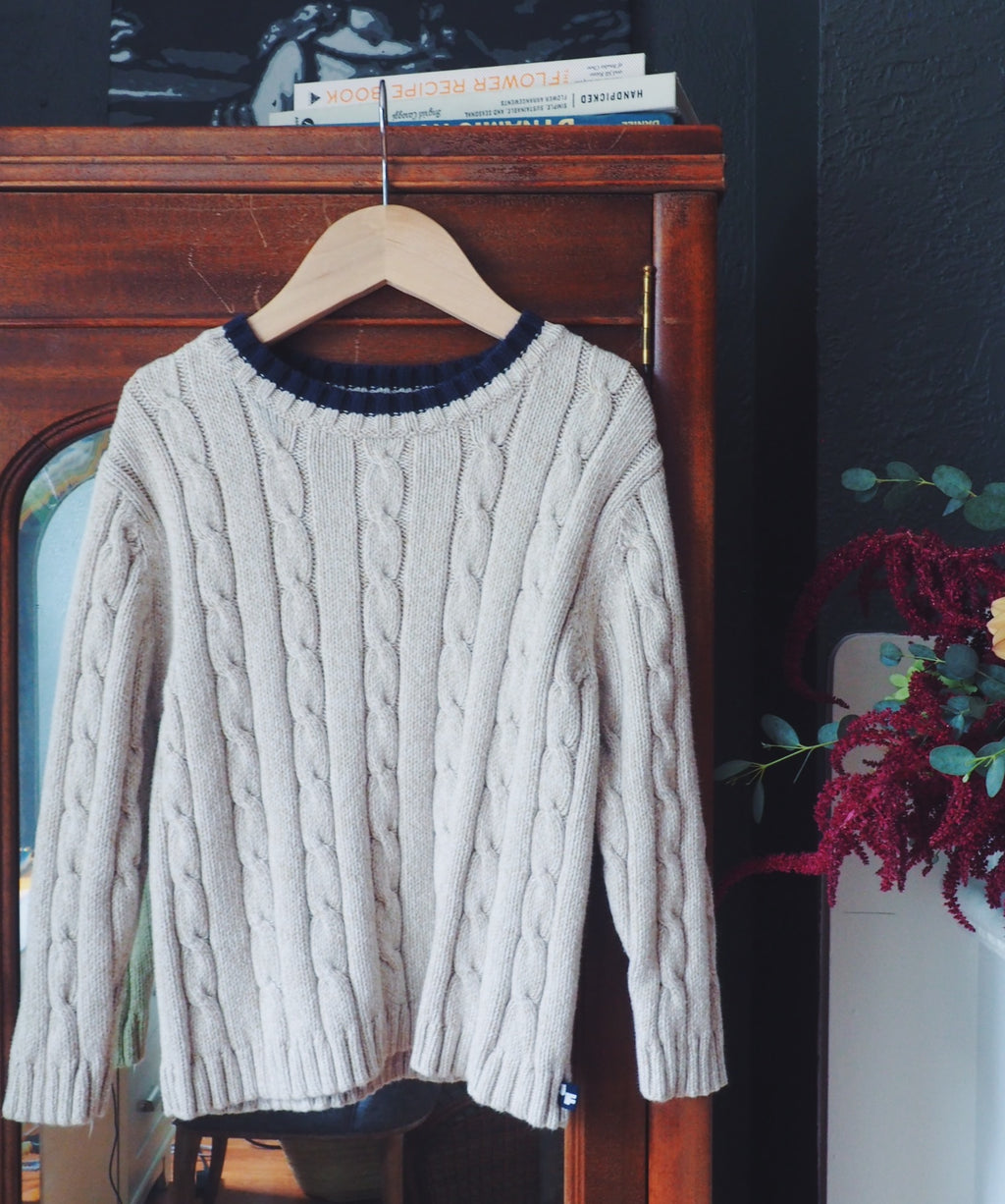 Vintage Boys Cable Knit Sweater