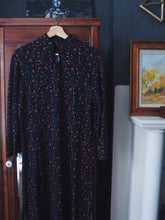 Load image into Gallery viewer, Vintage Navy Floral Cotton Dress