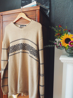 90's Graphic Over-sized Men's Sweater