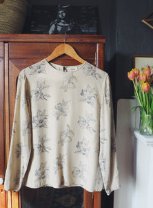 Talbots 100% Silk Floral Blouse