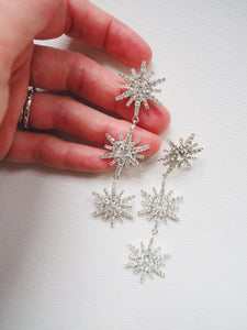 Crystal Snowflake Statement Earrings