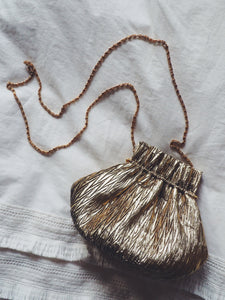 Vintage Gold Lame Petite Purse