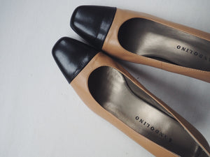 Vintage Two Toned Cap Toe Pump