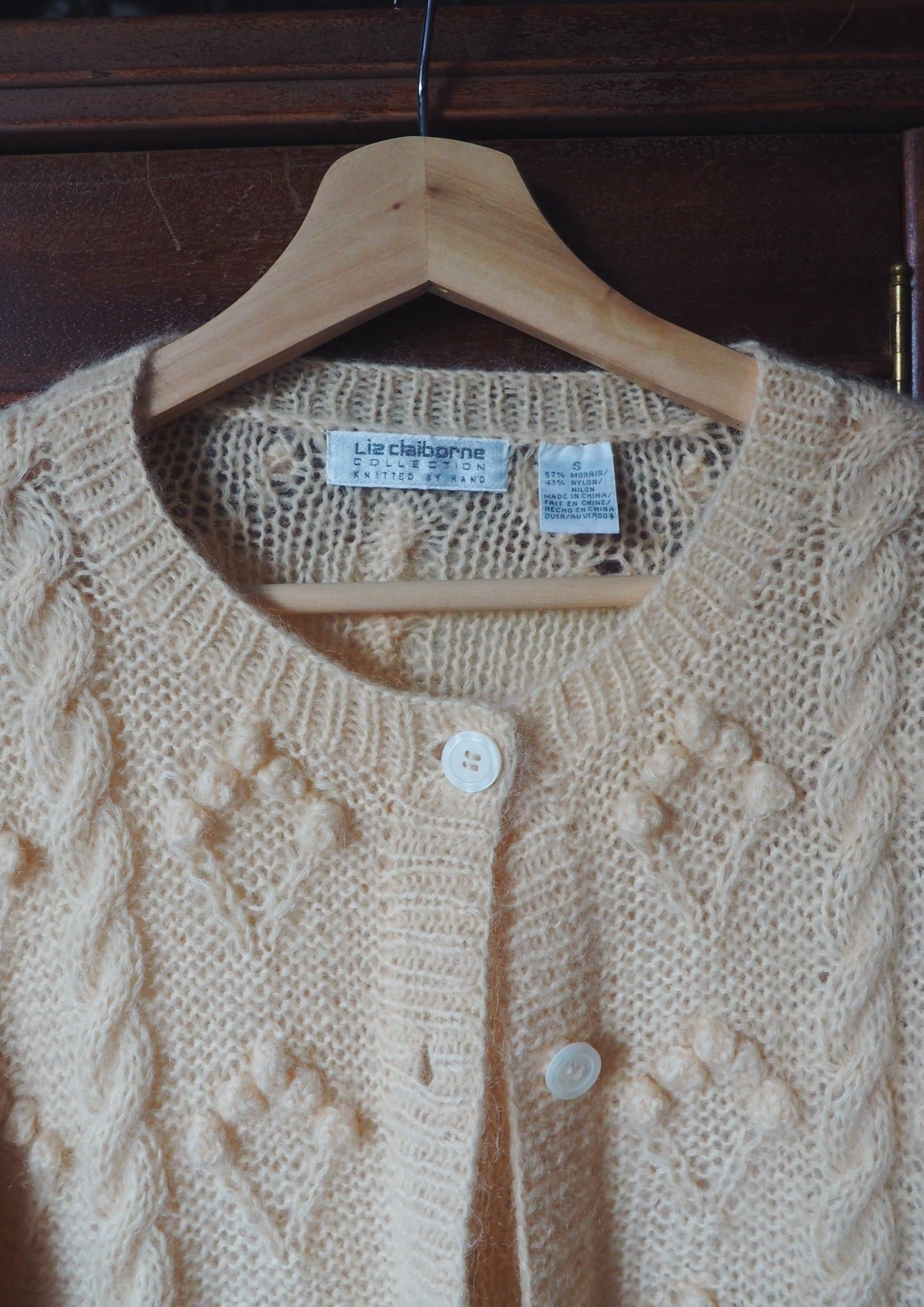 Vintage Mohair Blend Bubble Cardigan