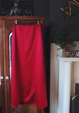 Load image into Gallery viewer, Satin A-line Maxi Skirt