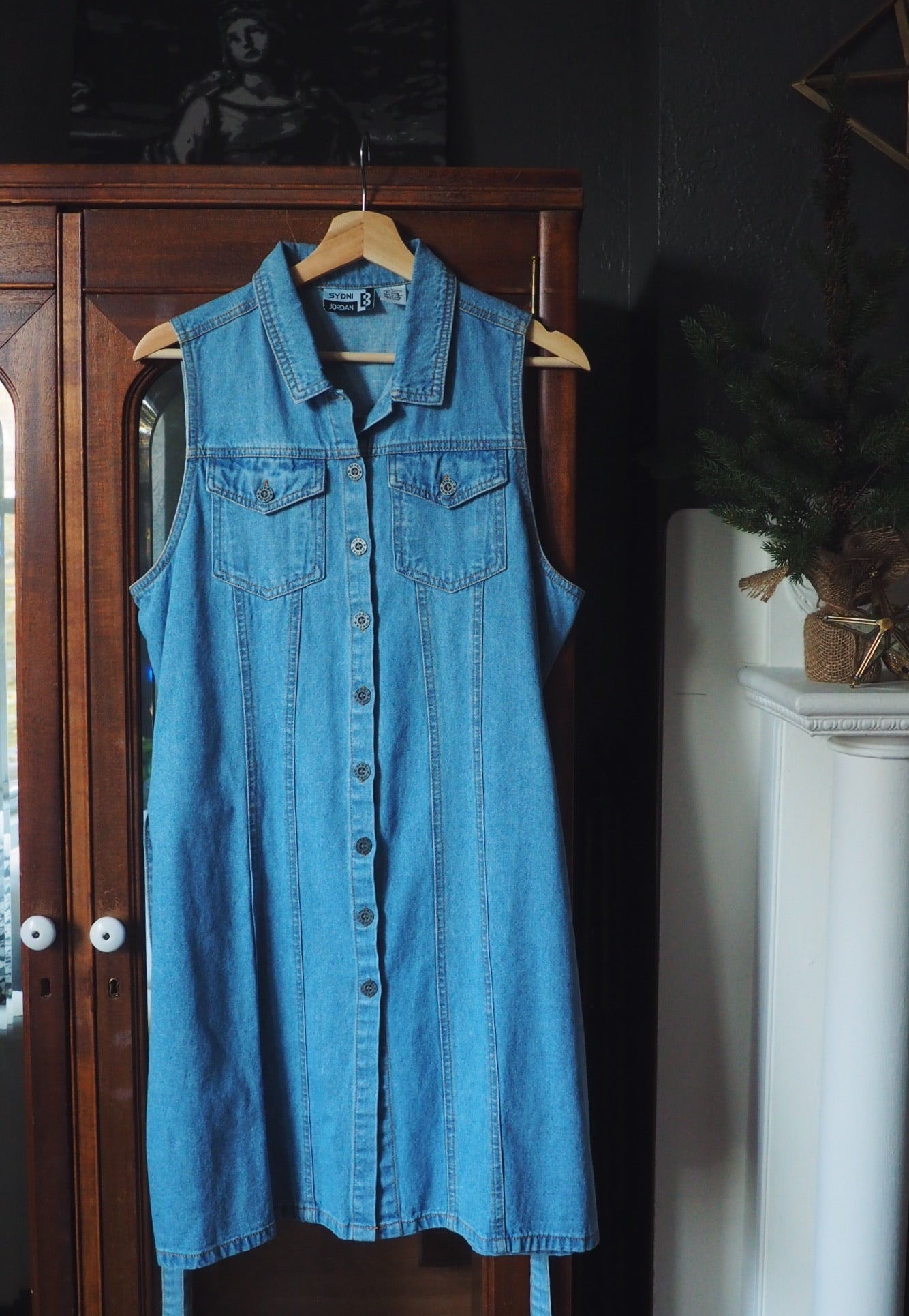 Vintage Denim Button Front Dress