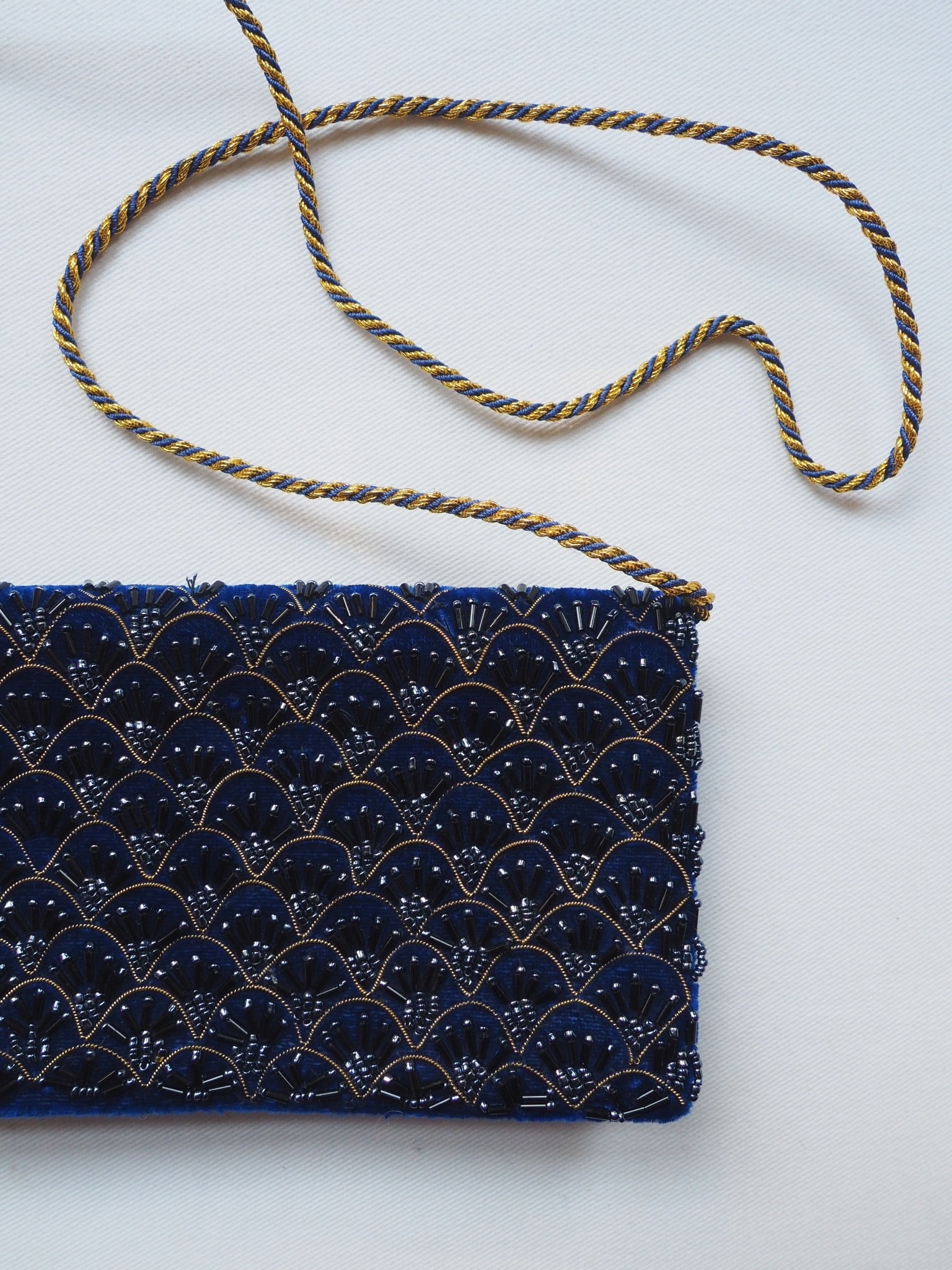 Vintage Cobalt Blue Evening Purse
