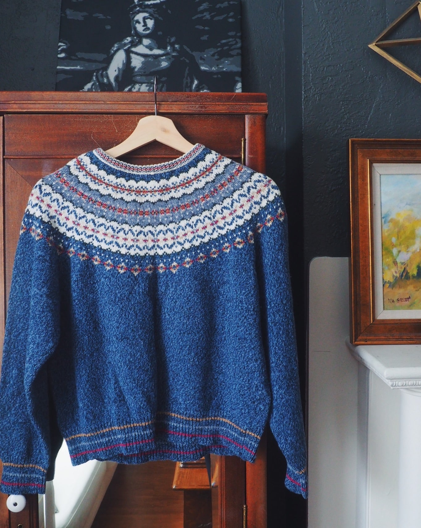 Vintage Blue Isle Sweater
