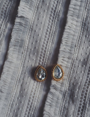 Pear Drop Statement Earrings