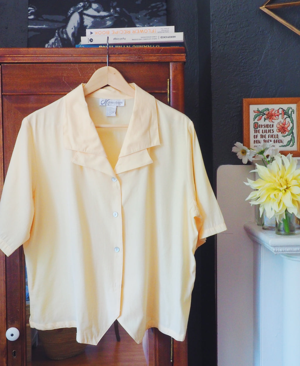 Vintage Yellow Short-Sleeve Button Down