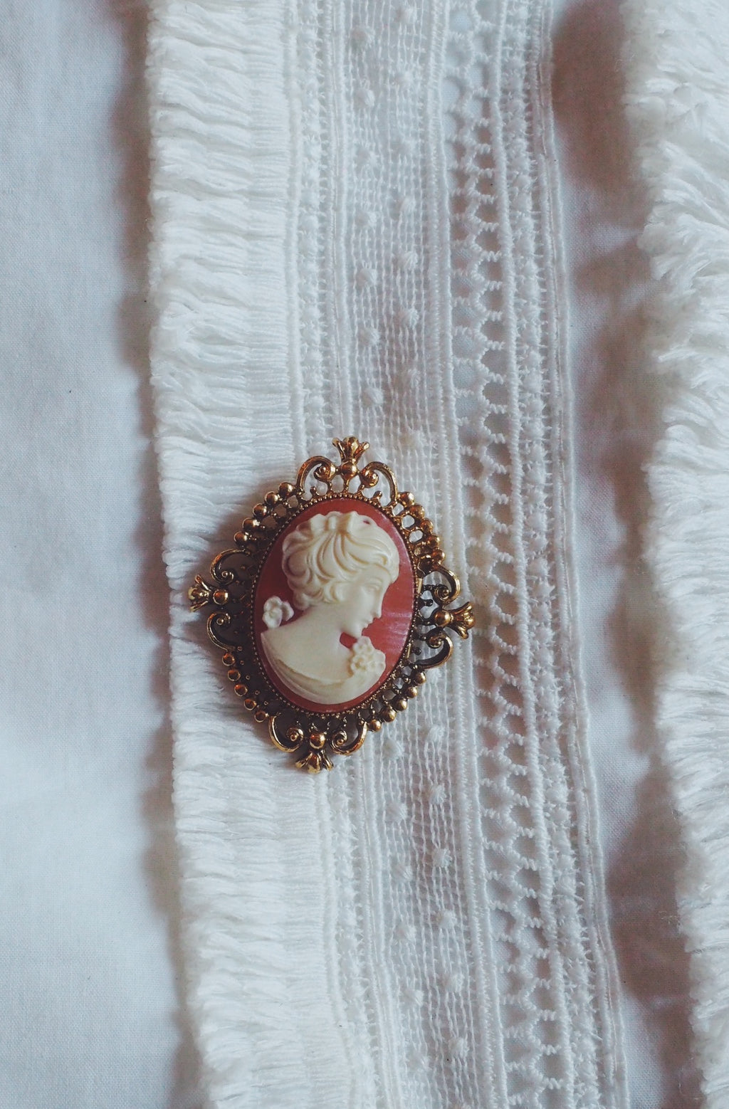 Vintage Cameo Pin